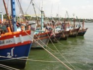 Commercial fishing boats at Ang Sila, Thailand